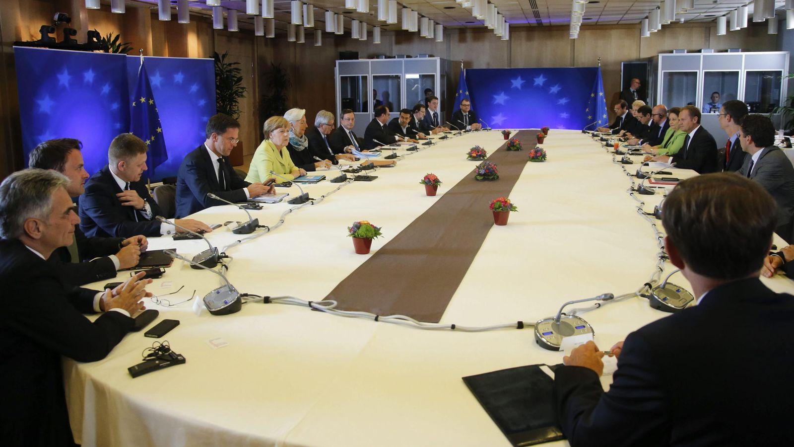 Foto: Cumbre extraordinaria sobre la crisis helena celebrada el martes en Bruselas. (EFE)