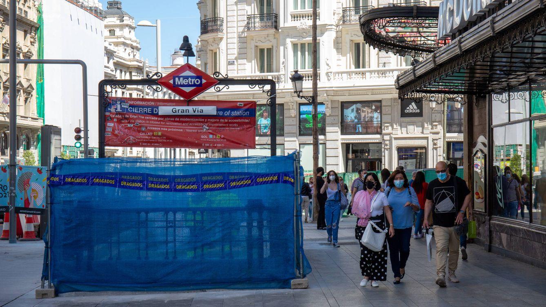 Foto: Acceso a la estación de Gran Vía, en Madrid, cerrada desde agosto de 2018. (D.B.)