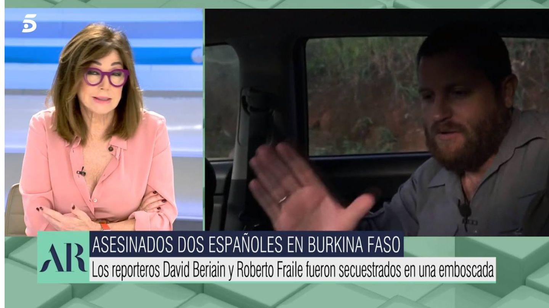 Ana Rosa, despide a David Beriain. (Mediaset)