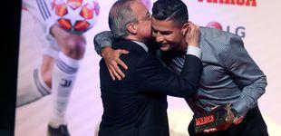 Post de El beso de Florentino Pérez a Cristiano Ronaldo y la