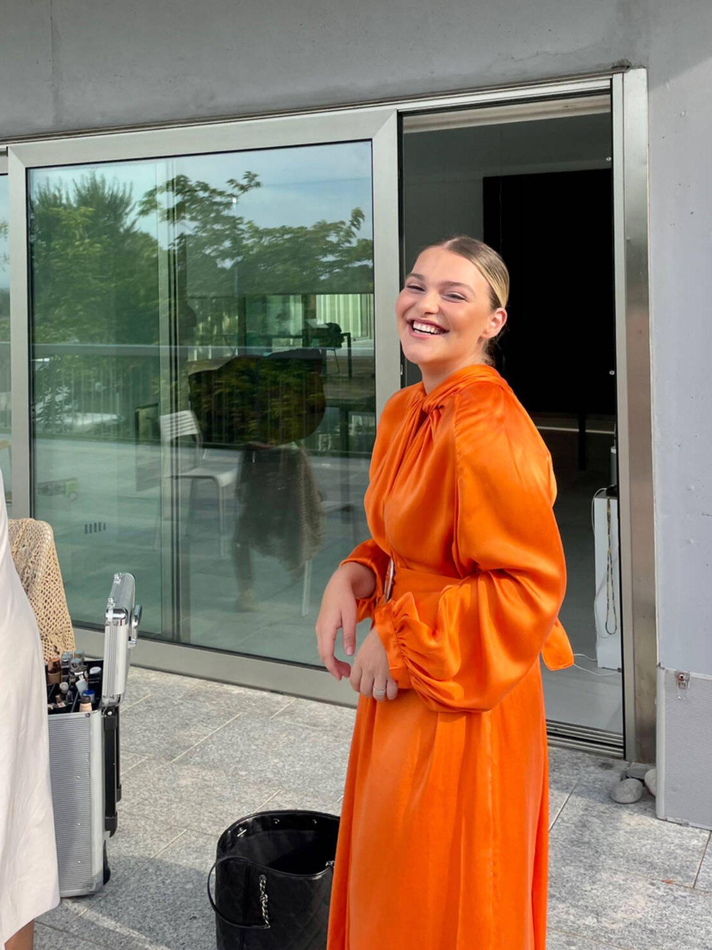 Sofía, durante el rodaje del documental. (Cortesía)