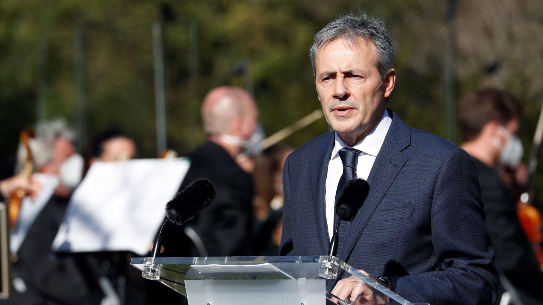 Tomás Caballero, durante su discurso. (EFE)