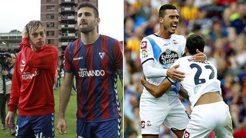 Almería y Eibar son equipos de Segunda y el Valencia luchará por la Champions