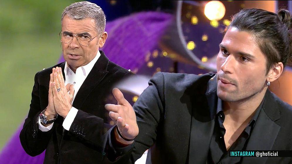 Foto: Jorge Javier Vázquez  y Luca, hermano de Gianmarco, en 'GH VIP 7'. (Telecinco)