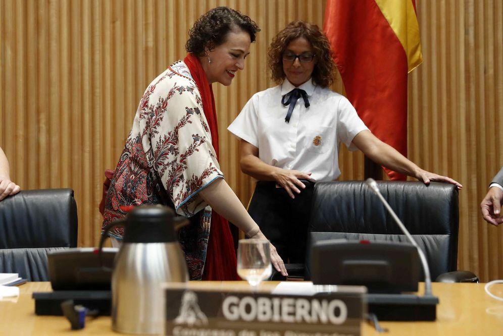 Foto: La ministra de Trabajo, Magdalena Valerio, el pasado 30 de agosto en el Congreso. (EFE)