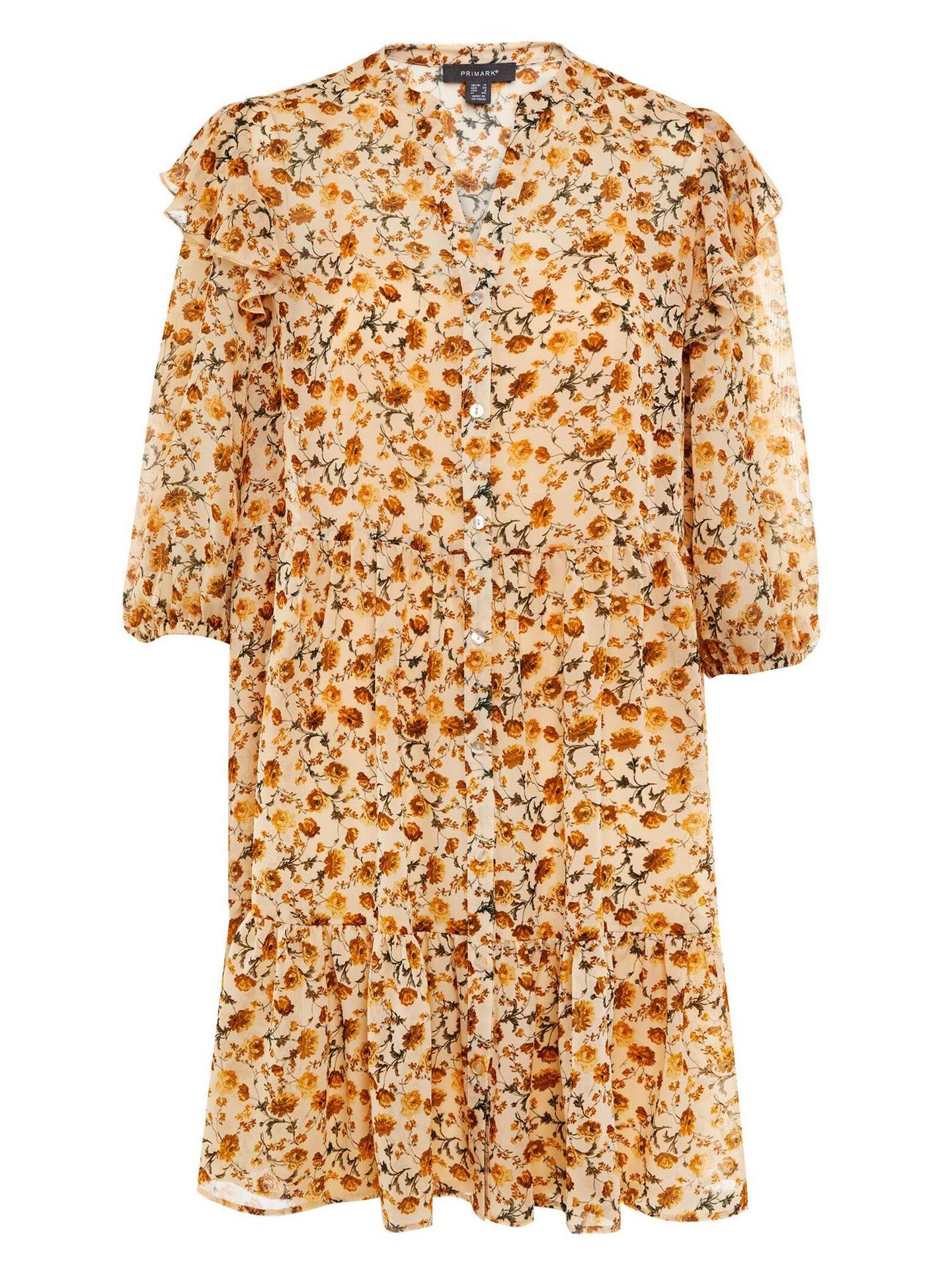 Uno de los vestidos de flores que Primark tiene en su catálogo perfectos para el entretiempo. (Cortesía)