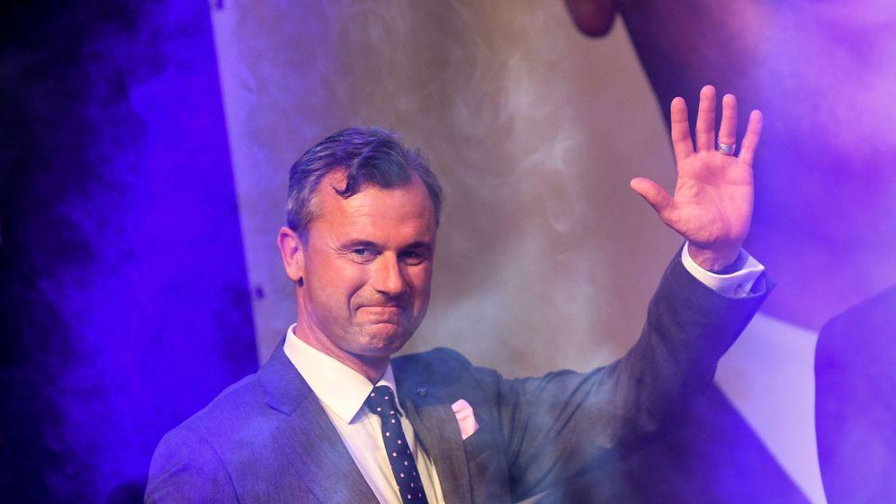 Foto: Norbert Hofer durante la campaña presidencial. (Reuters)