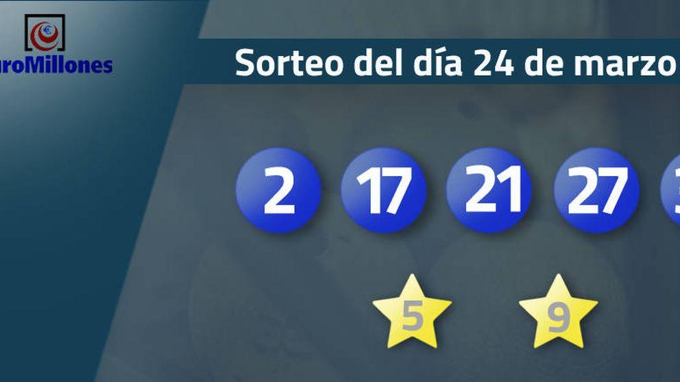 Resultados del sorteo del Euromillones del 24 de marzo de 2017