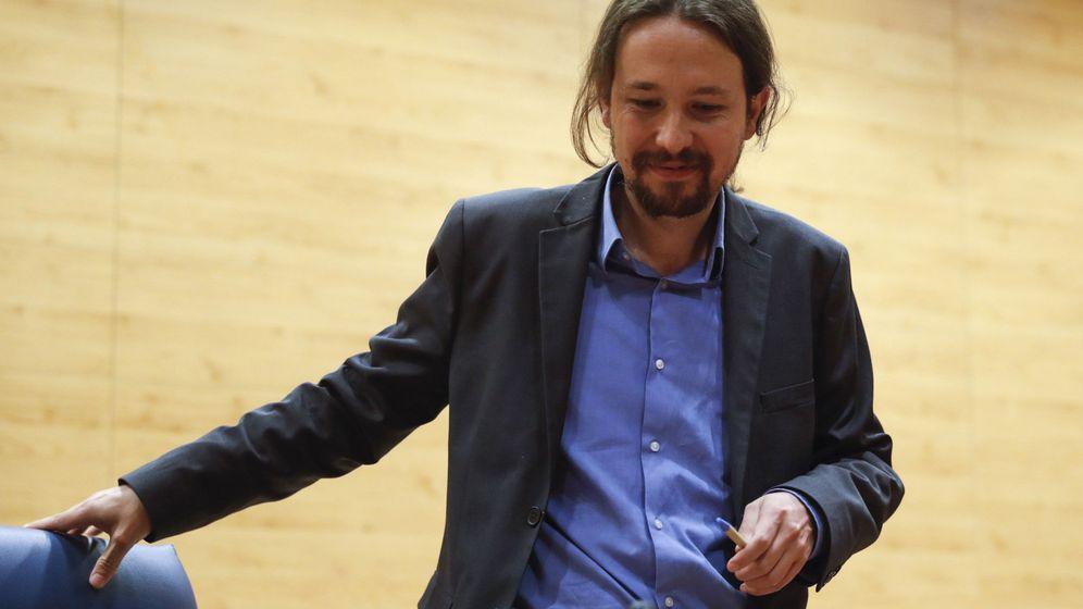 Foto: El secretario general de Podemos, Pablo Iglesias, durante una conferencia reciente en la Universidad Complutense de Madrid. (EFE)