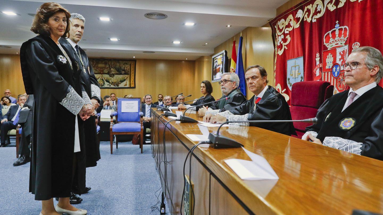 Concepción Espejel, durante su toma de posesión en la Sala de lo Penal de la Audiencia Nacional hace un año. (EFE)