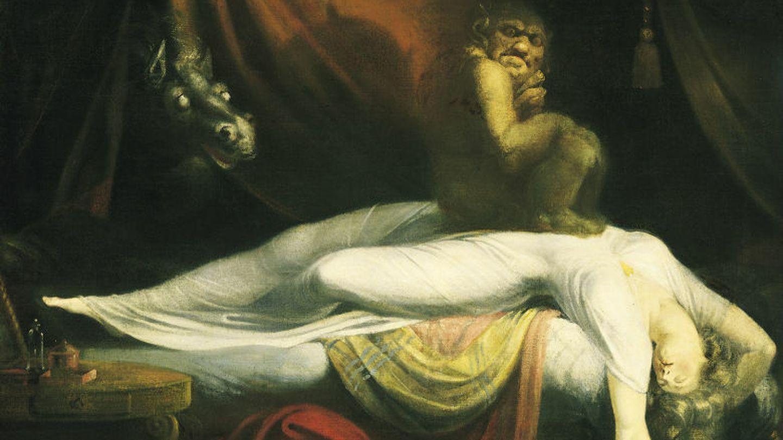 La pesadilla (1781), del pintor neoclásico johann heinrich füssl es una de las interpretaciones artísticas más conocidas de la parálisis del sueño.