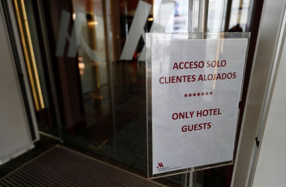 Foto: El hotel Marriott de Madrid, medicalizado desde finales de marzo. (EFE)