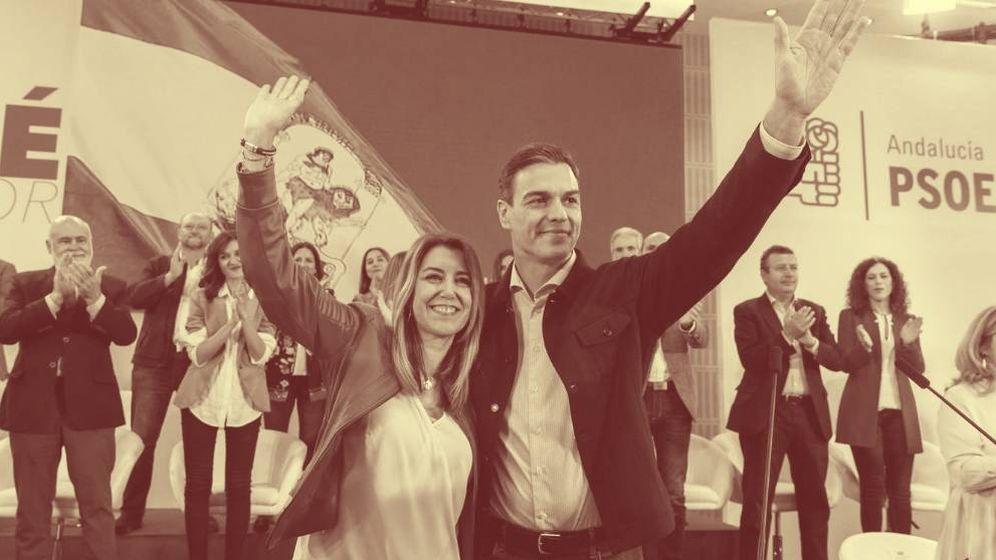 Foto: La presidenta de Andalucía, Susana Díaz, junto al presidente del Gobierno, Pedro Sánchez. (EFE)
