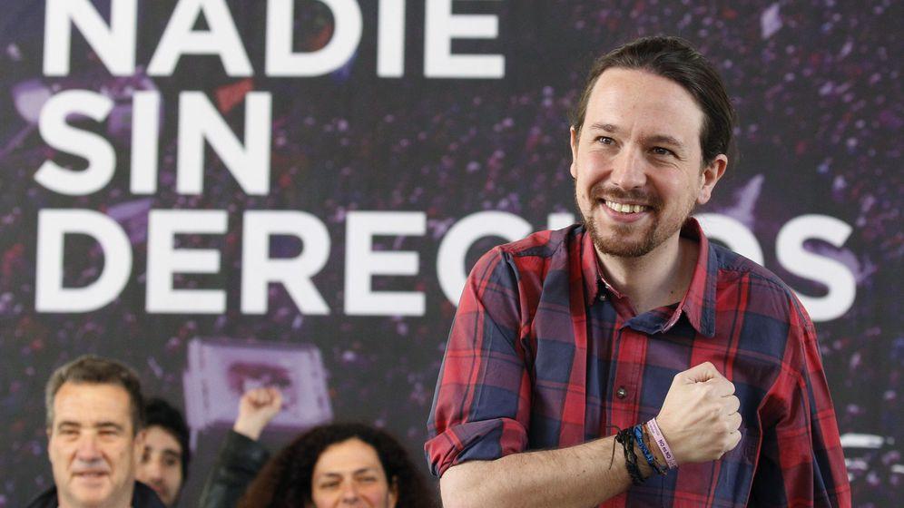 Foto: El secretario general de Podemos, Pablo Iglesias, durante una asamblea de la plataforma Vamos! (EFE)