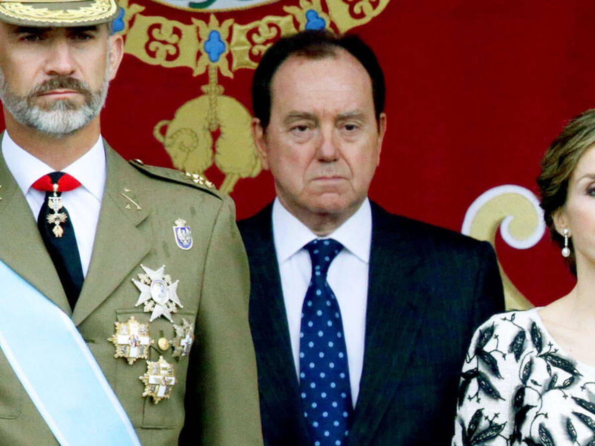 Foto: Jaime Alfonsín, junto a los Reyes. (Gtres)