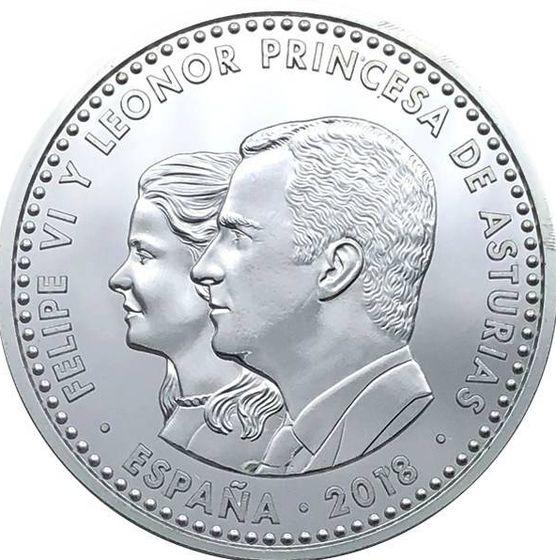 Foto: La moneda de Leonor.