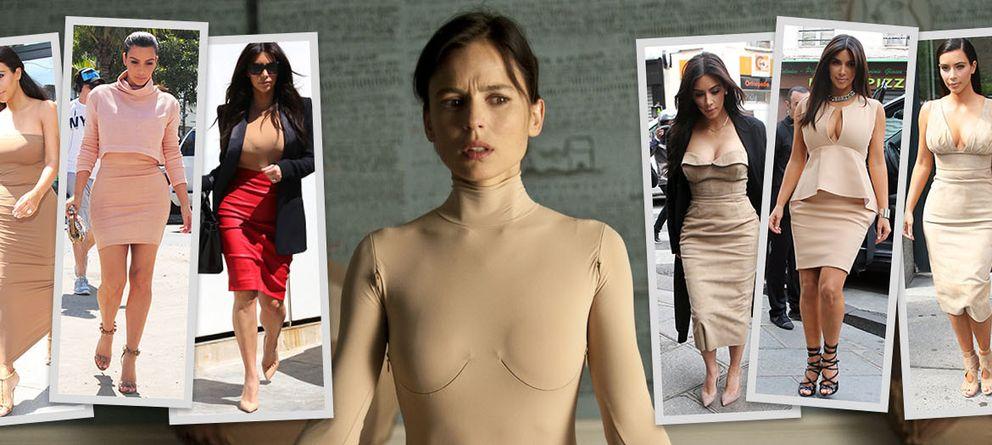 Kim Kardashian en 'La Piel que habito' o cómo llevar el color más ortopédico con arte