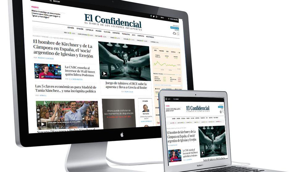 'El Confidencial' amplía su ventaja con 'ABC' en 100.000 usuarios