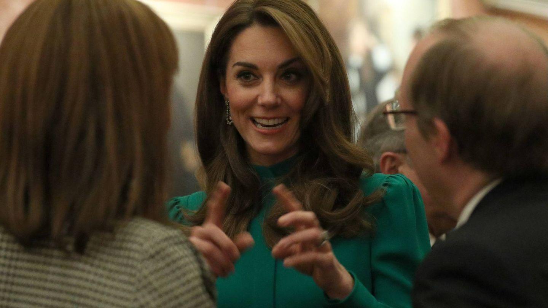 Kate Middleton, este martes en Buckingham. (Cordon Press)