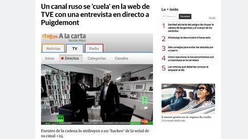 Puigdemont y RT, historia de un 'hackeo' en TVE