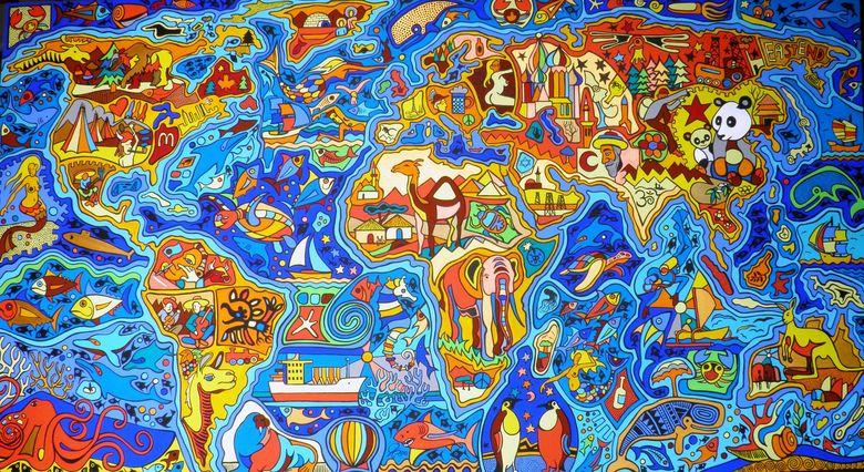 Foto: Mapa del mundo ilustrado por Evil Painter (DevianArt)