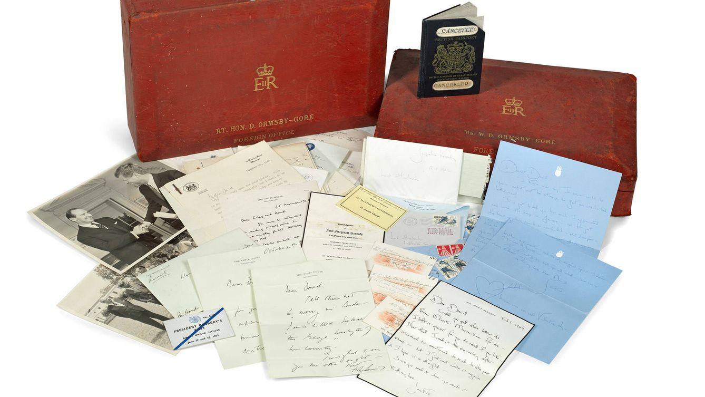 Foto: Imagen de las cartas que Jackie Kennedy se mandaba con el quinto Lord Harlech.