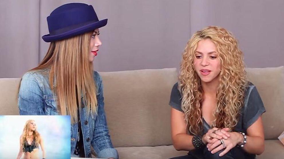 Así reacciona Shakira al ver sus viejos videoclips