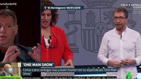 Carlos Latre se defiende en el programa de Cristina Pardo de su imitación de Montero