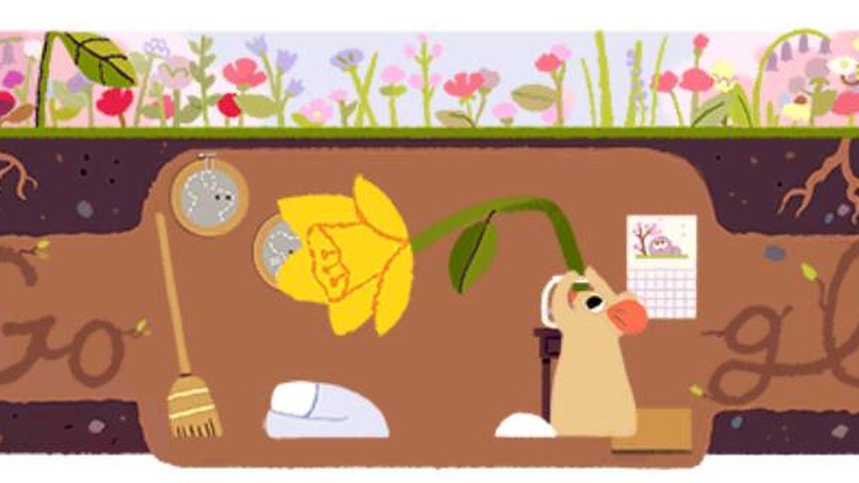 El equinoccio de primavera llega a Google: el 'doodle' que dice adiós al invierno