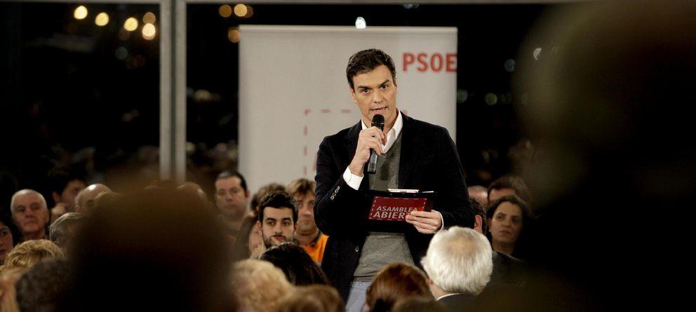 Foto: Pedro Sánchez participa en una 'Asamblea Abierta' del PSOE. (EFE)