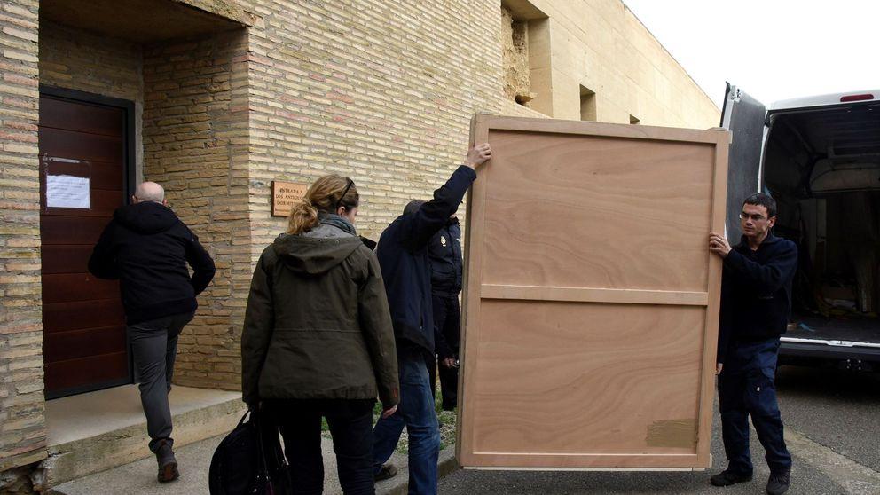 La juez paraliza el traslado de los frescos de Sijena ante el riesgo de deterioro