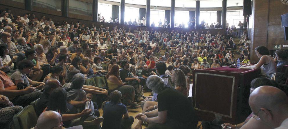 Foto: Asamblea de Podemos en la UCM el pasado 14 de junio (EFE)