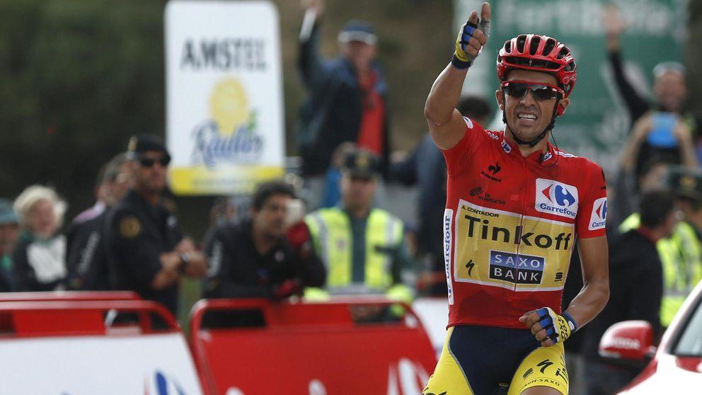 Contador da un golpe de autoridad encima de la mesa de la Vuelta