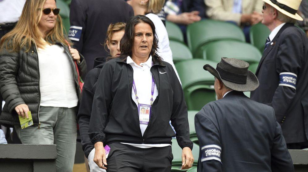 Foto: Conchita Martínez, en Wimbledon. (EFE)