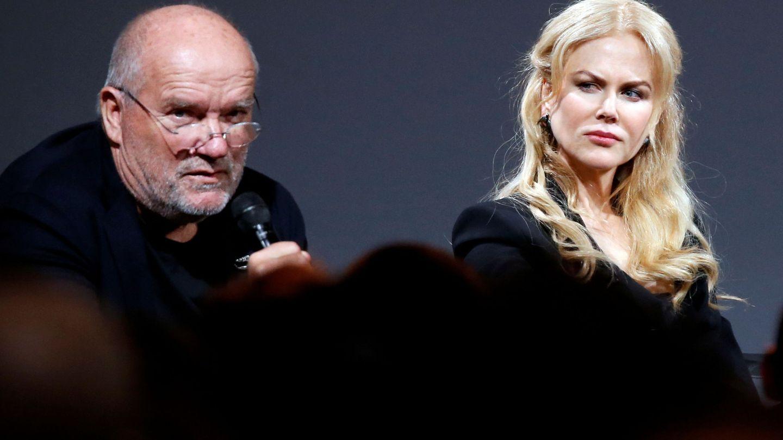 Peter Lindbergh junto a Nicole Kidman. (Reuters)