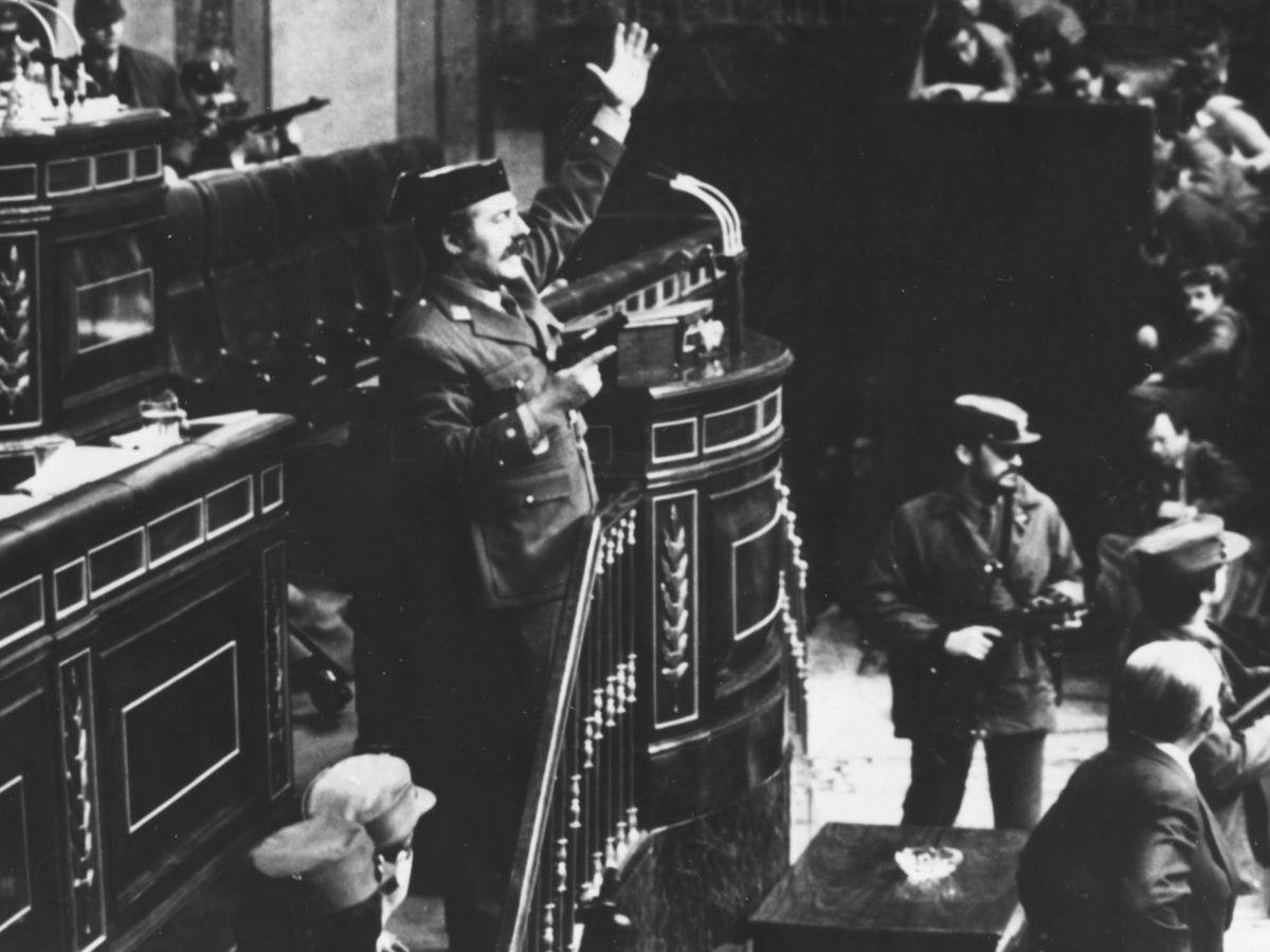 Foto:  La intentona de golpe de Estado el 23 de febrero de 1981. (Getty)
