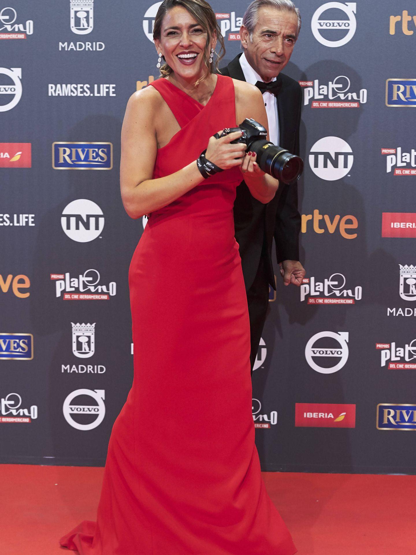 Imanol Arias e Irene Meritxell. (Getty)