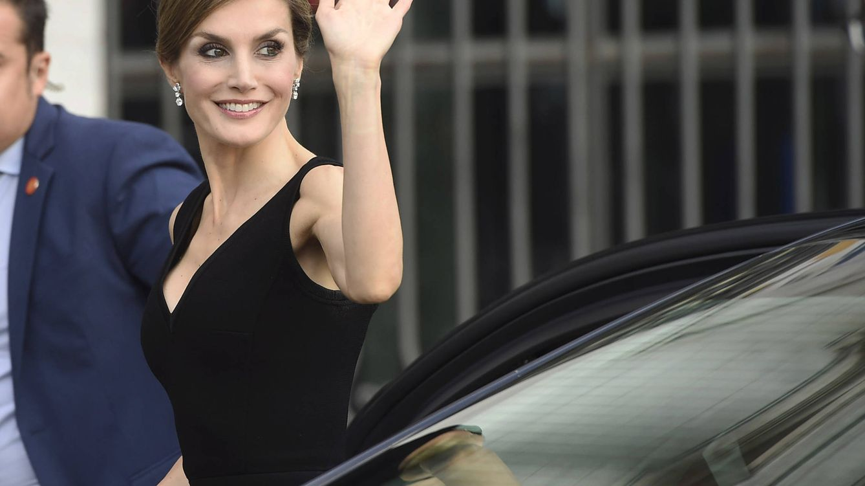 Foto: La Reina Letizia llega al Teatro Real para asistir a la ópera 'Otello'