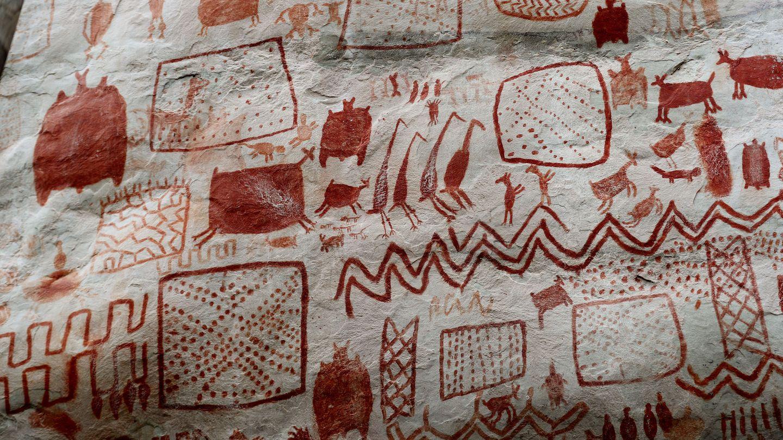 Algunas de las pinturas rupestres de Chiribiquete. (EFE)