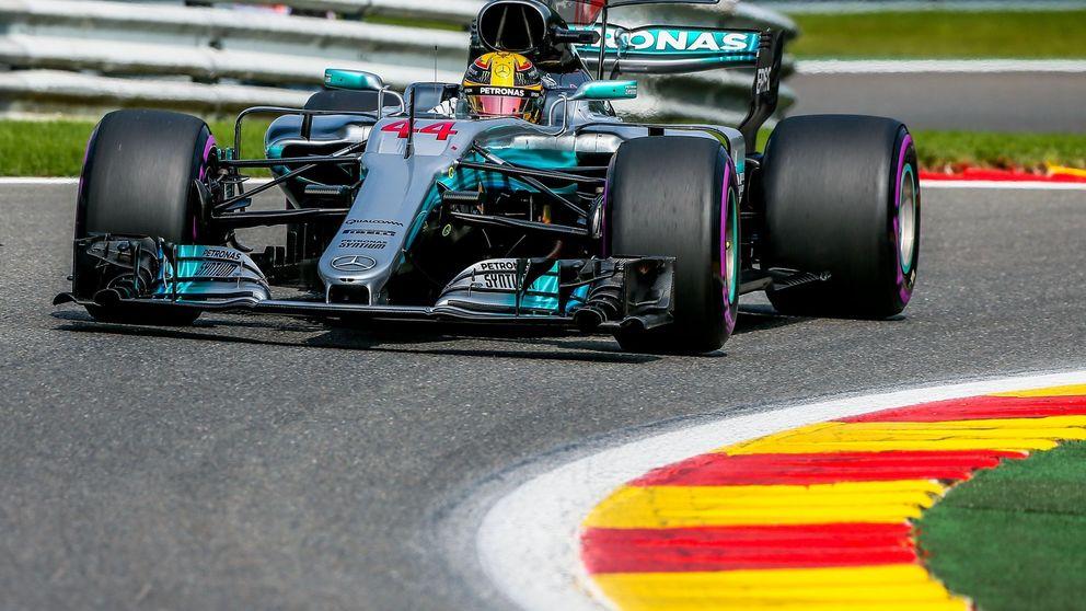 Hamilton aguanta a Vettel y pone picante al mundial; Sainz puntúa y Alonso se harta