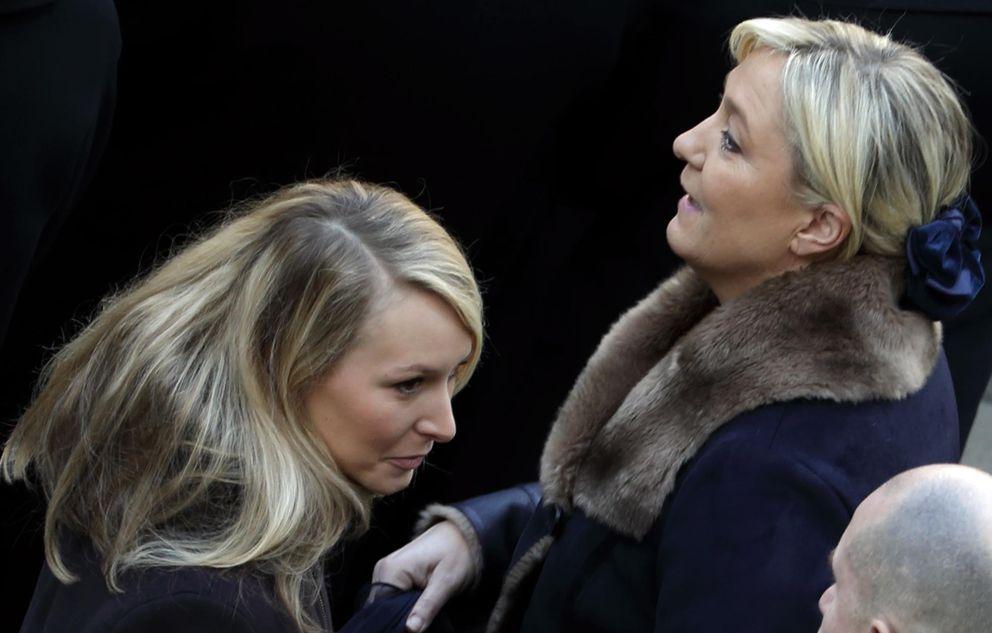 Foto: Marine y Marion Le Pen durante una ceremonia en París (Reuters)