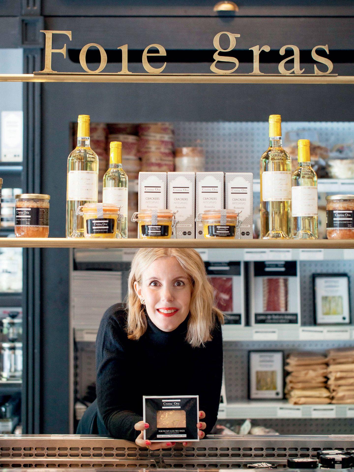 Cristina Oria posa en su restaurante. (Cortesía)