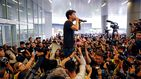 La vuelta del joven  Joshua Wong, la pesadilla de China en la 'revoltosa' Hong Kong
