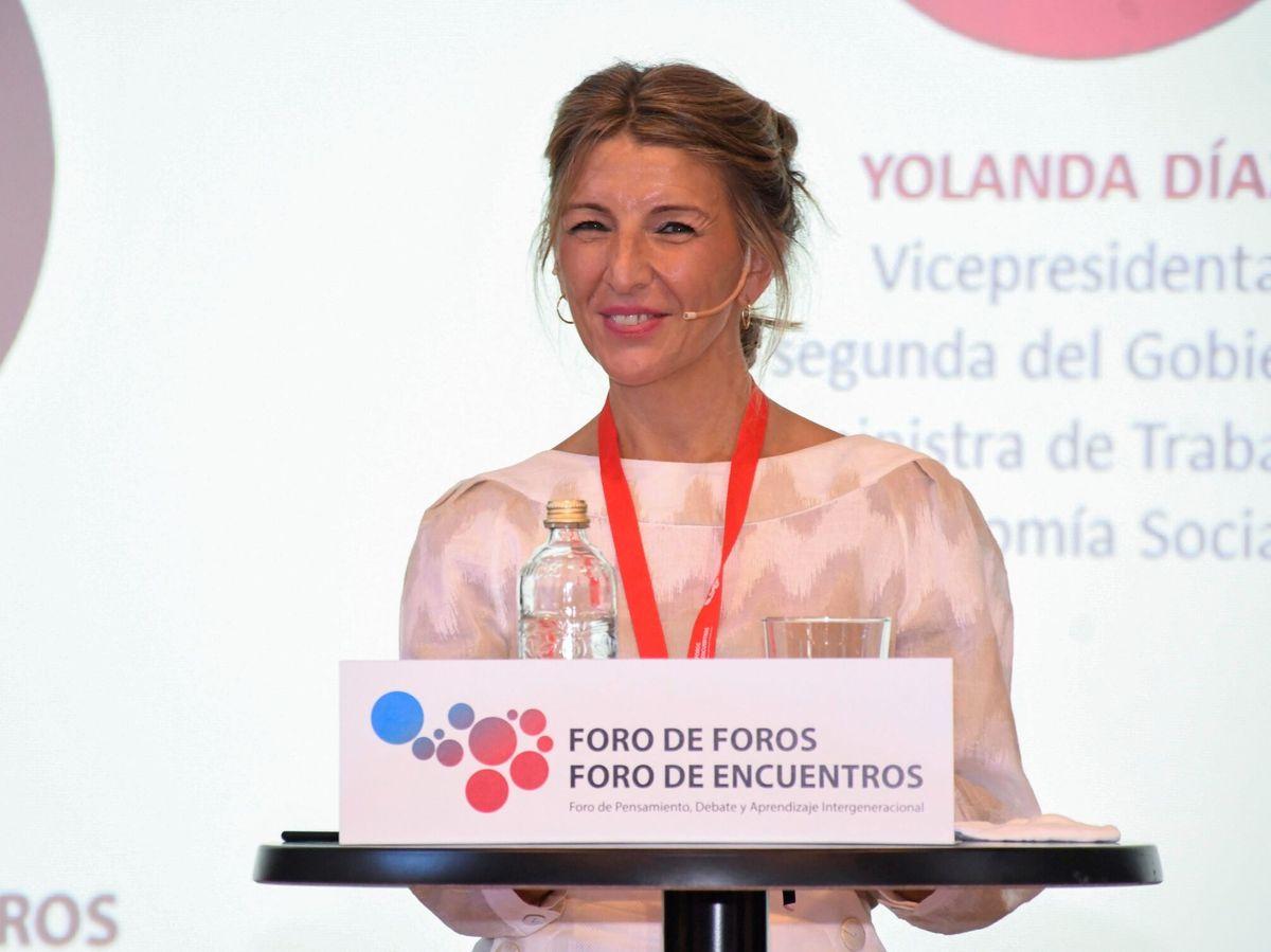 Foto: La vicepresidenta segunda del Gobierno y ministra de Trabajo, Yolanda Díaz. (EFE)