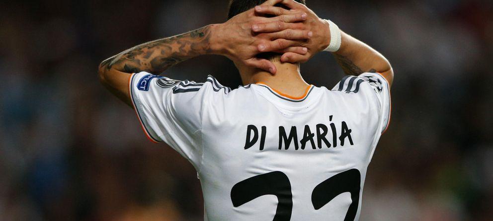 Foto: Ángel Di María se lleva las manos a la cabeza durante la última final de Champions disputada por el Real Madrid.