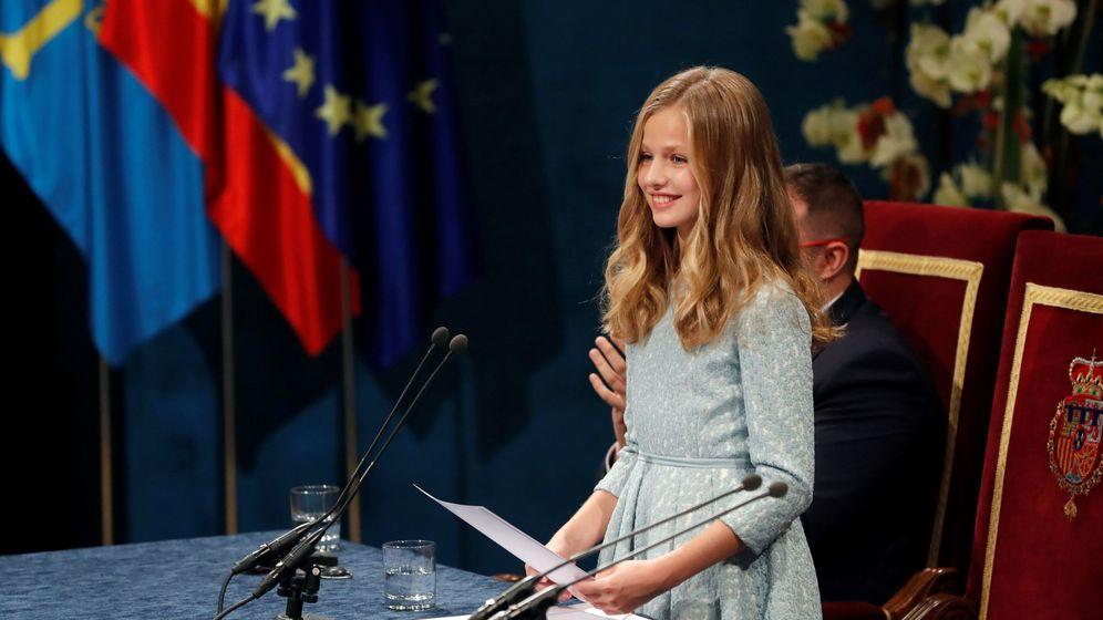 Foto: Leonor, durante su discurso en los Premios Princesa de Asturias. (EFE)