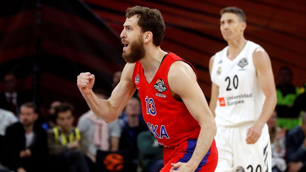 Foto: Sergio Rodríguez y Nando De Colo, con 23 puntos cada uno, fueron los máximo anotadores del CSKA de Moscú-Real Madrid. (EFE)