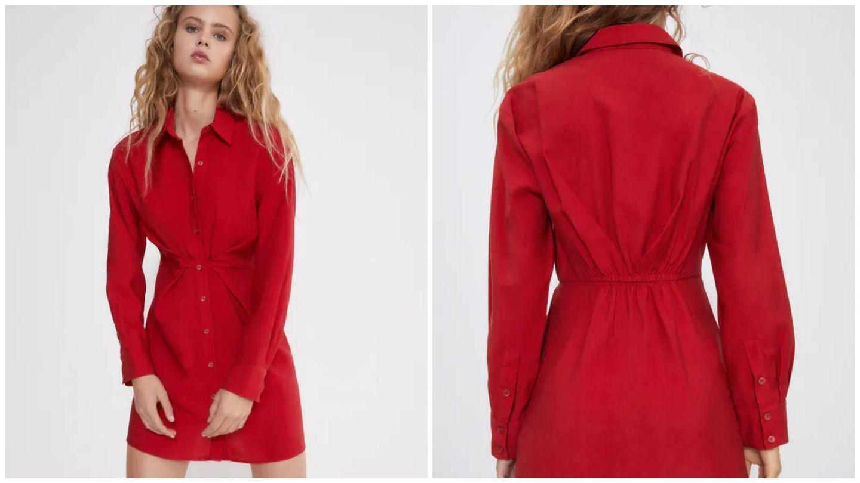 Vestido rojo de Zara. (Cortesía)
