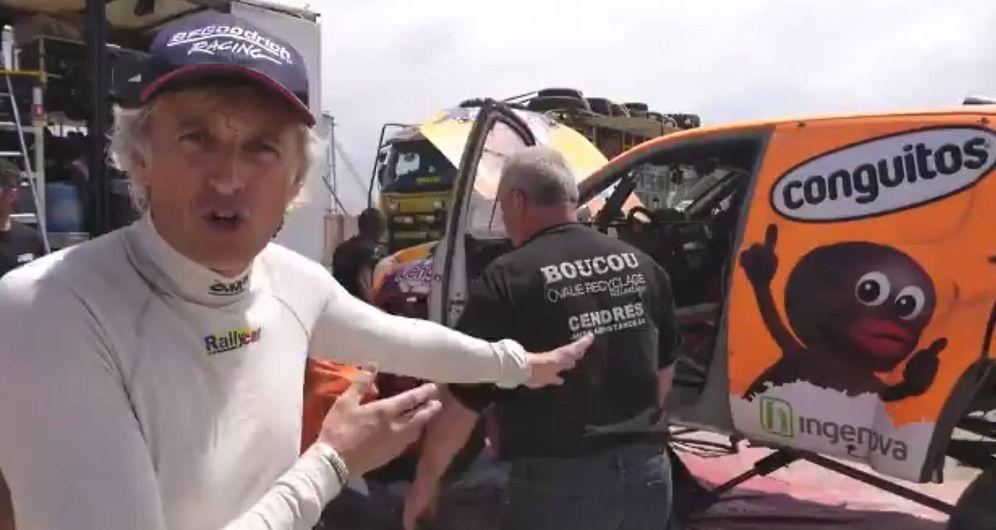 Foto: Jesús Calleja durante su participación en este Rally Dakar 2018.