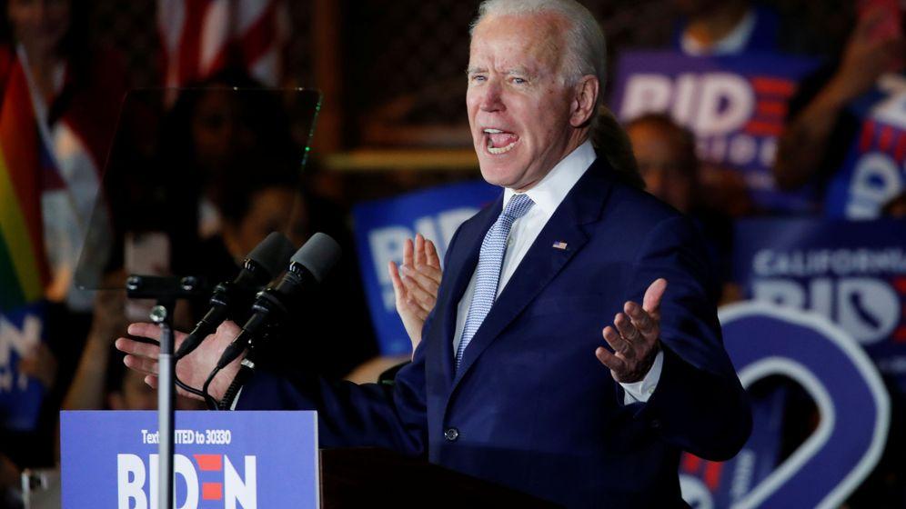 Foto: Joe Biden en Los Angeles, California, EEUU, esta noche (Reuters)